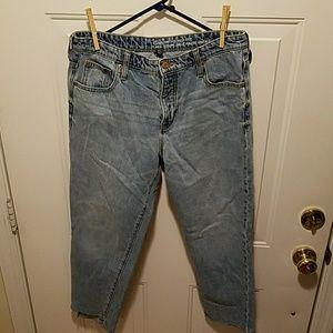Gap high rise crop jeans
